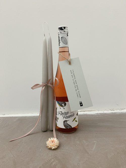 Rosé Wein, Kerzen