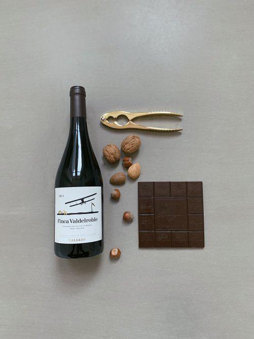 wein Schokolade nüsse