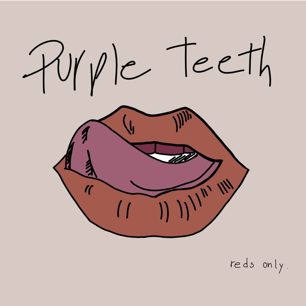 lips purple teeth wine redwine