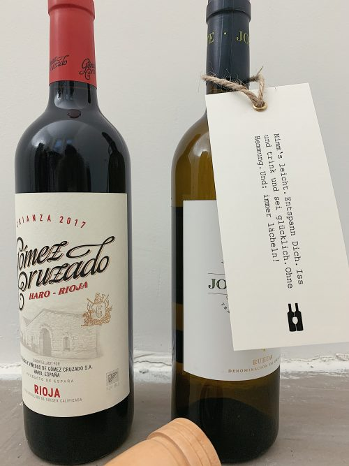 rotwein, Weißwein, Hangtag