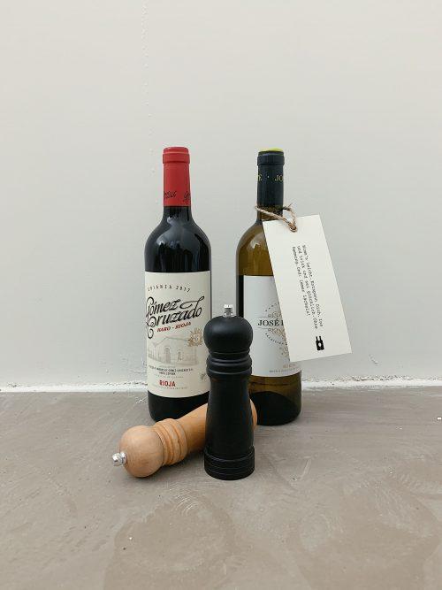 Rotwein, Weißwein, Pfeffermühle, Sanlzmühle